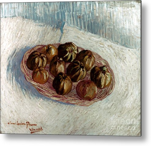 1887 Metal Print featuring the photograph Van Gogh: Apples, 1887 by Granger