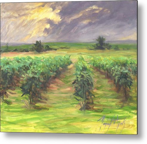 Vinyard Metal Print featuring the painting Vinyard by Margaret Aycock