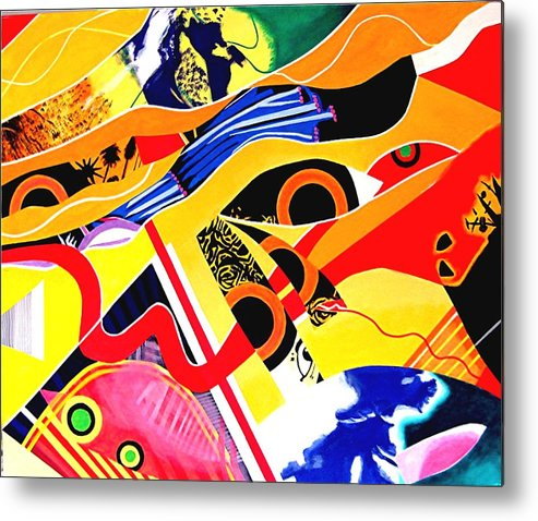 Travel Metal Print featuring the painting World Trip by Barron Holland