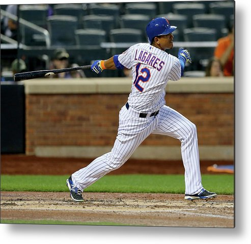 Second Inning Metal Print featuring the photograph Juan Lagares by Elsa