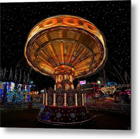 State Fair Metal Print featuring the painting Carnival Night by David Lee Thompson