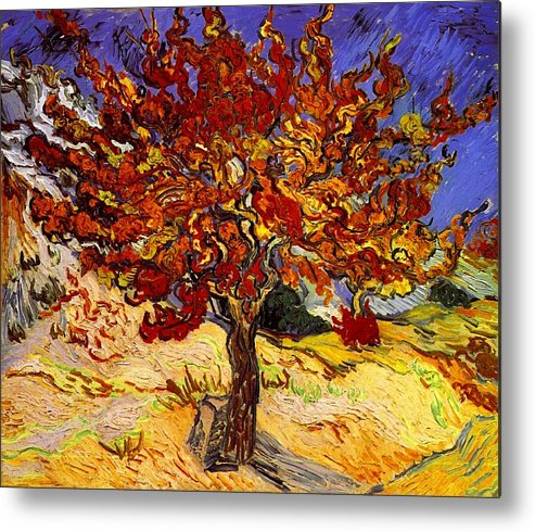 Vincent Van Gogh Metal Print featuring the painting Mulberry Tree by Vincent Van Gogh