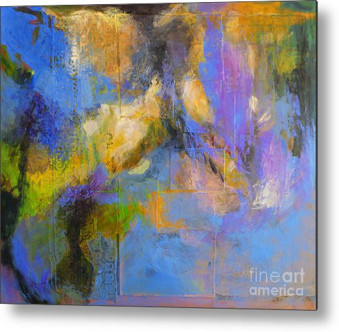 Nature Metal Print featuring the painting Agua by Melody Cleary