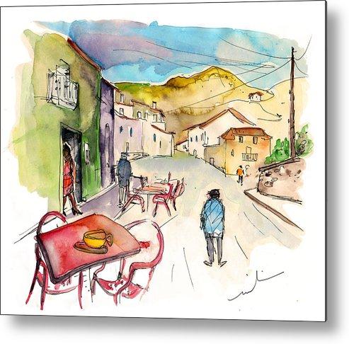 Portugal Metal Print featuring the painting Barca De Alva Street 01 by Miki De Goodaboom