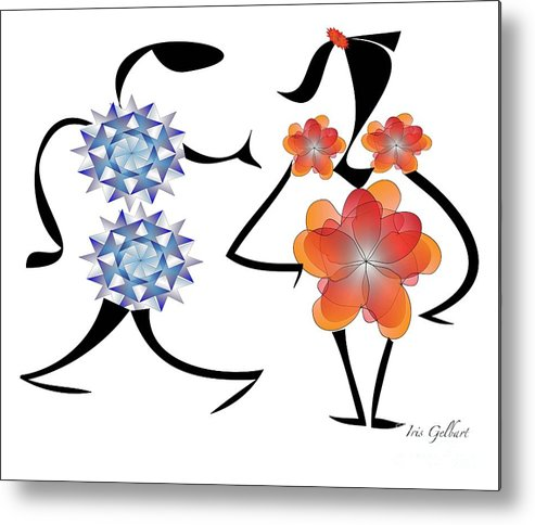 Cartoons Metal Print featuring the digital art Can I Have This Dance by Iris Gelbart