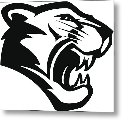 Abstract Cougar Mascot Art