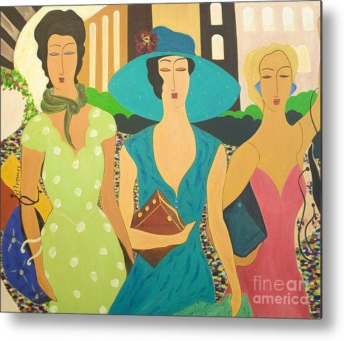 #fashion Metal Print featuring the painting Daybreak by Jacquelinemari