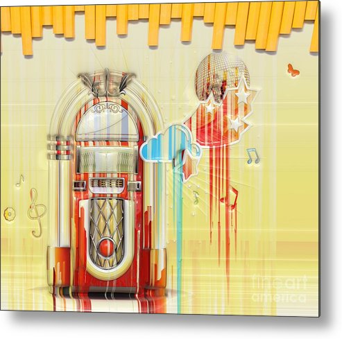 Juke Box Metal Print featuring the photograph Juke Box by Liane Wright