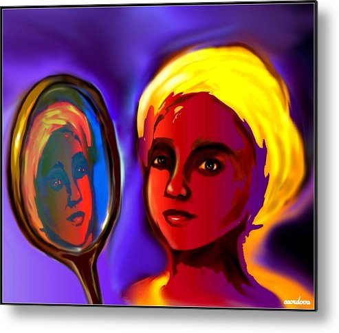 Oshun Metal Print featuring the digital art Oshun -goddess Of Love by Carmen Cordova