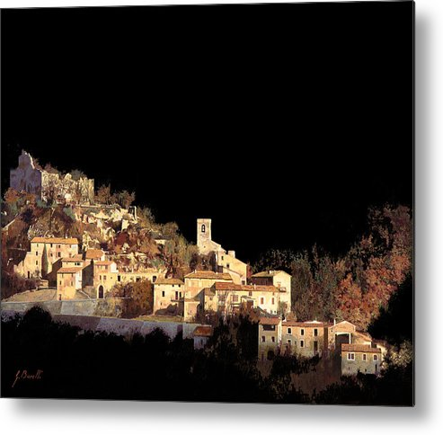 Landscape Metal Print featuring the painting Paesaggio Scuro by Guido Borelli