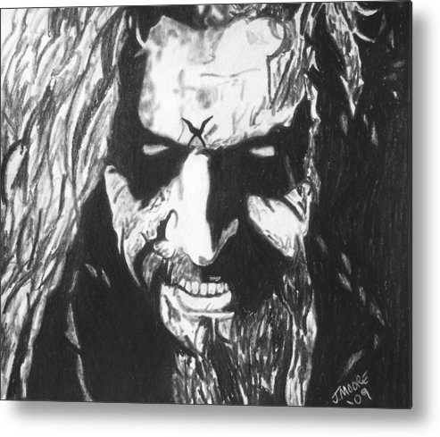 Rob Zombie Music Rock Heavy Metal Celebrity Icon Metal Print featuring the drawing Rob Zombie by Jeremy Moore