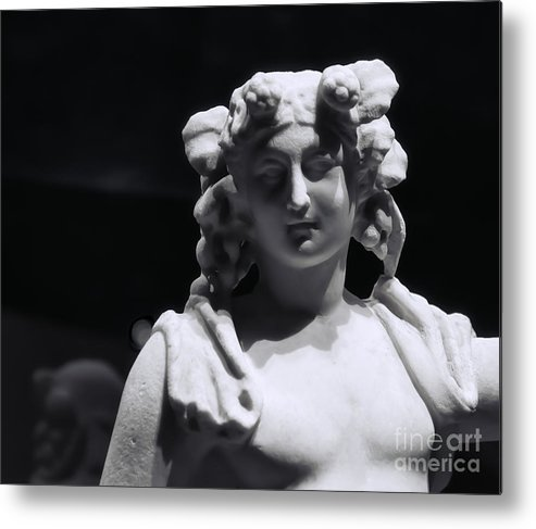 Pompeii Metal Print featuring the photograph Statue Of Dionysus by Catherine Fenner
