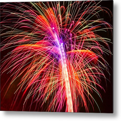 United Metal Print featuring the photograph 4th Of July - Independence Day Fireworks by Gordon Dean II