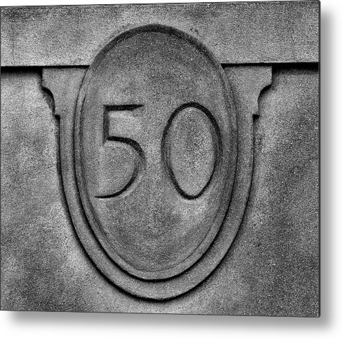 Building Address Number Metal Print featuring the photograph 50 by Robert Ullmann