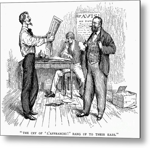 1850s Metal Print featuring the photograph Abolitionist Newspaper by Granger