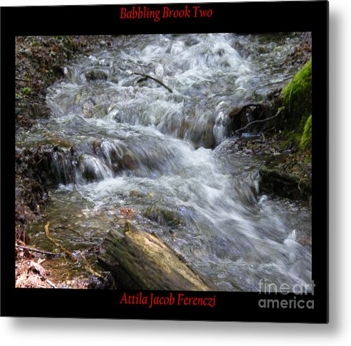 Brook Metal Print featuring the photograph Babbling Brook Two by Attila Jacob Ferenczi