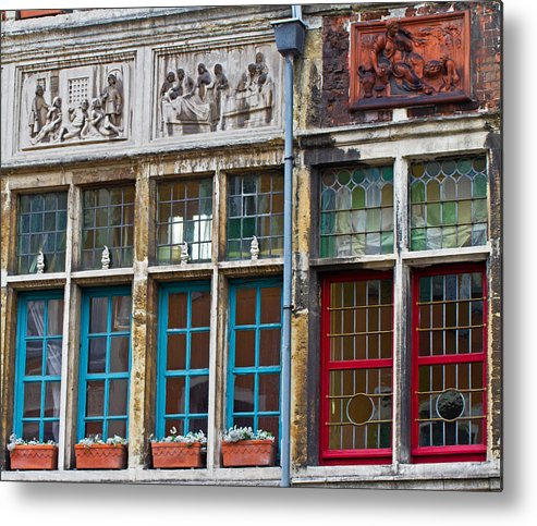 Europe Metal Print featuring the photograph Colorful Windows by David Freuthal