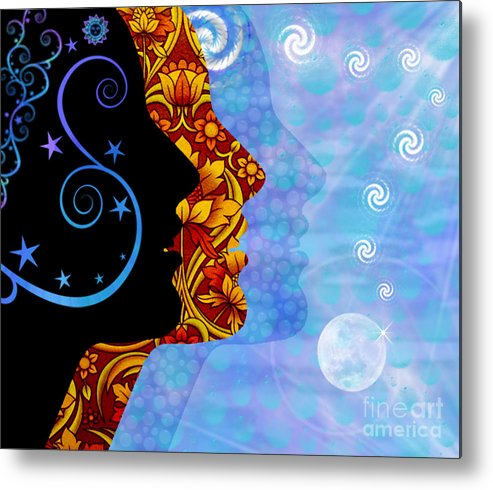 Planets Metal Print featuring the digital art Open Minds by Gia Simone
