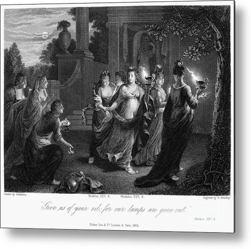 Christianity Metal Print featuring the photograph Parable Of Virgins by Granger