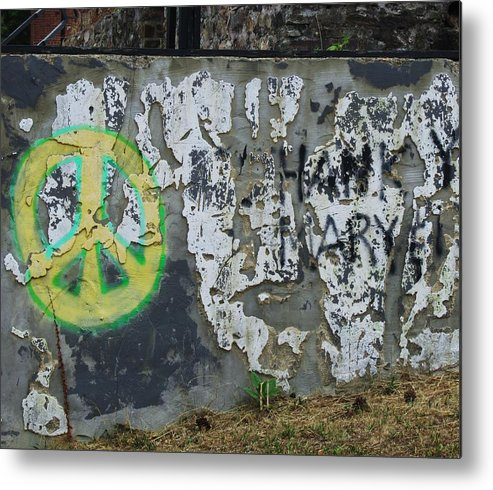 Wall Of Peace Metal Print featuring the photograph Peace 2012 #1 by Todd Sherlock
