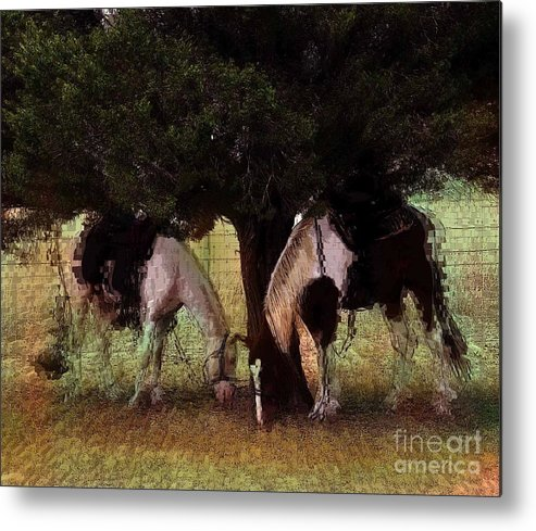Horse Metal Print featuring the photograph Resting On The Hoof by David Carter