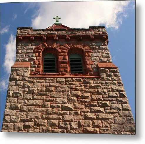 Cross Metal Print featuring the photograph Triumphant by Bonnie Lee