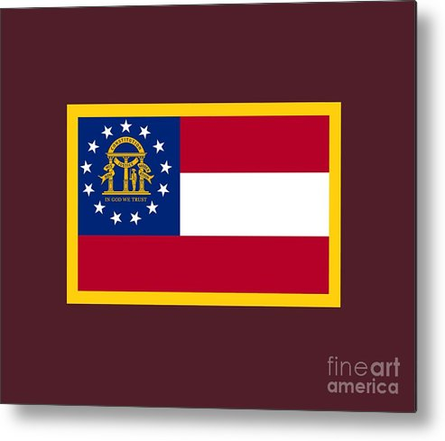 Flag Metal Print featuring the digital art Georgia Flag by Frederick Holiday