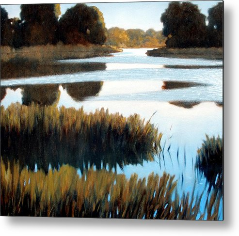 Water Metal Print featuring the painting Black Bayou by Kevin Lawrence Leveque