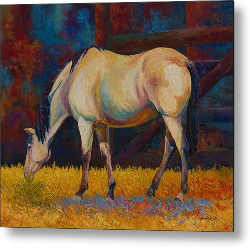 Horses Metal Print featuring the painting Buckskin by Marion Rose