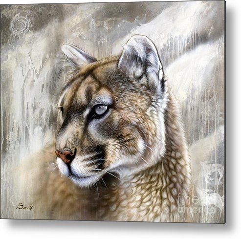 Acrylic Metal Print featuring the painting Catamount by Sandi Baker