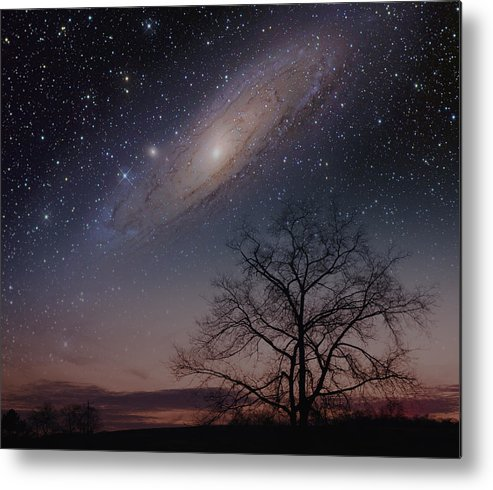 Andromeda Metal Print featuring the photograph Close Encounters - Andromeda by Charles Warren