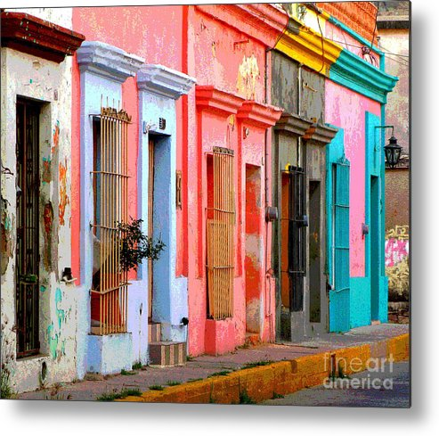 Darian Day Metal Print featuring the photograph Colored Casas By Darian Day by Mexicolors Art Photography