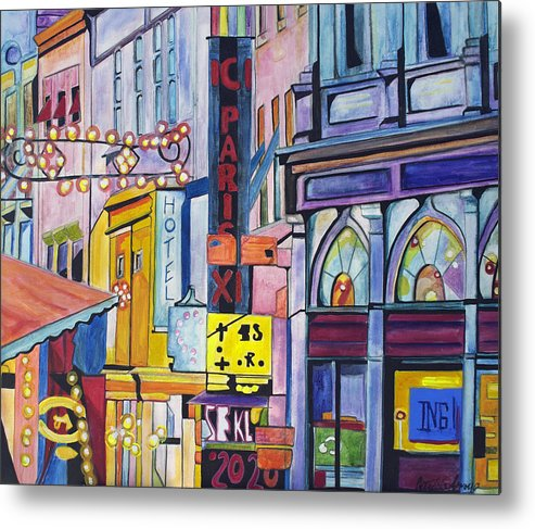 Cityscape Metal Print featuring the painting Colors Of Paris by Patricia Arroyo