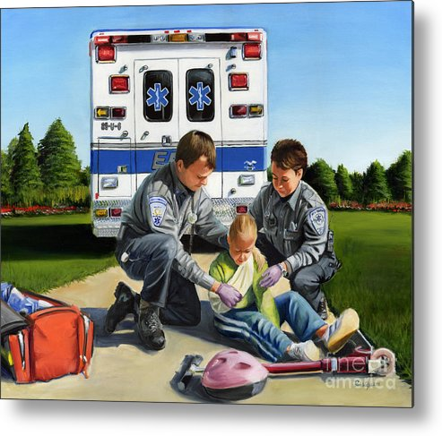 Ems Metal Print featuring the painting Compassion by Paul Walsh