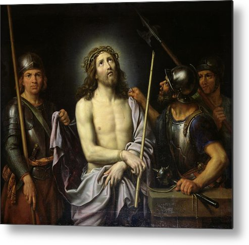 Ecce Metal Print featuring the painting Ecce Homo by Pierre Mignard