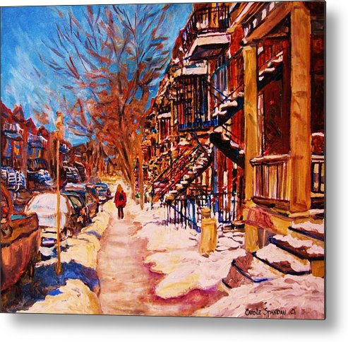 Children Metal Print featuring the painting Girl In The Red Jacket by Carole Spandau