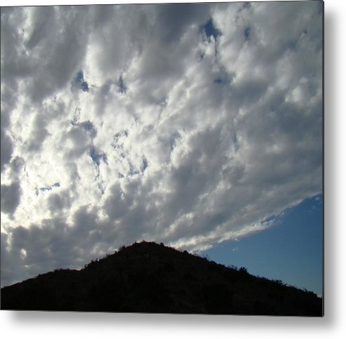 Landscape Metal Print featuring the photograph Hill-top One by Ana Villaronga