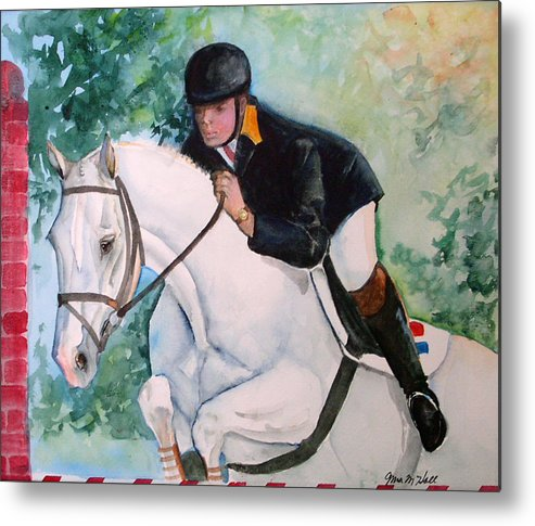 Equine Metal Print featuring the painting Jumper by Gina Hall