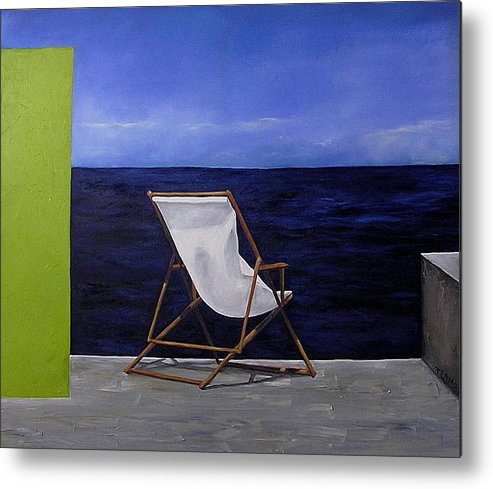 Seascape Metal Print featuring the painting Lazy Days by Trisha Lambi
