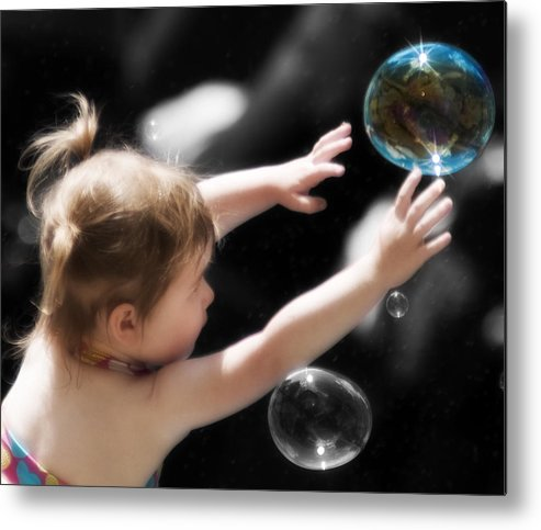 Bubbles Metal Print featuring the photograph Opportunity by Peter Olsen