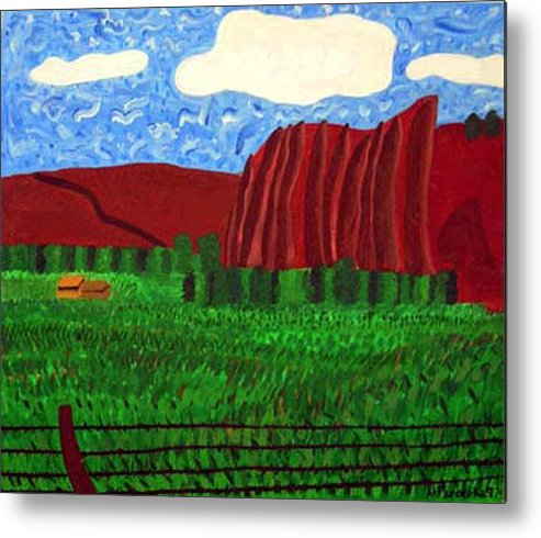 Landscape Metal Print featuring the painting Palisades Co by Natalee Parochka