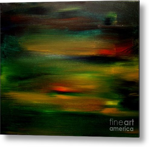 Sunset Metal Print featuring the painting Peninsula Sunset 2 by Karen L Christophersen