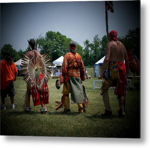 Pow Wow Metal Print featuring the photograph Pow Wow by Vijay Sharon Govender