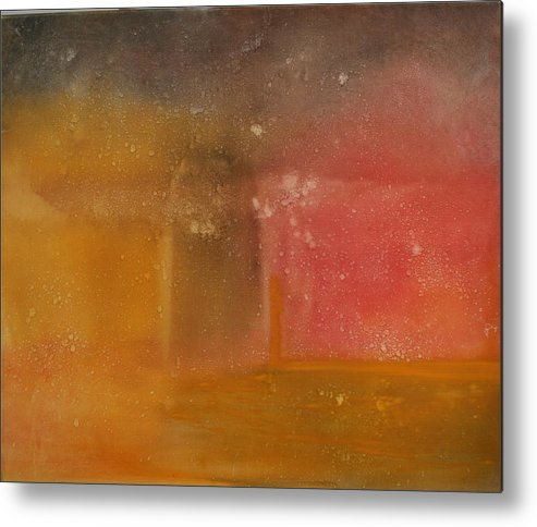 Storm Summer Red Yellow Gold Metal Print featuring the painting Reflection Summer Storm by Jack Diamond