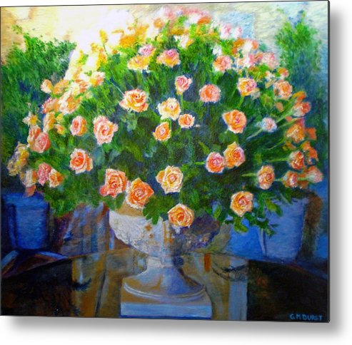 Rose Metal Print featuring the painting Roses At Table Bay by Michael Durst
