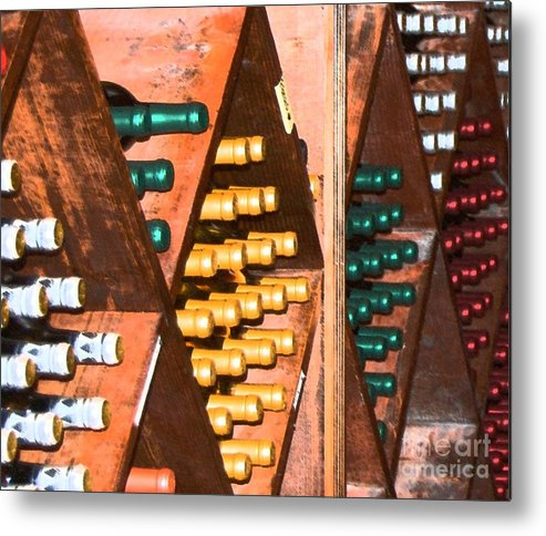 Wine Metal Print featuring the photograph Sideways by Debbi Granruth