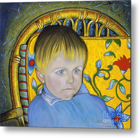 Bambino Metal Print featuring the painting Simeone by Isabell Von Piotrowski