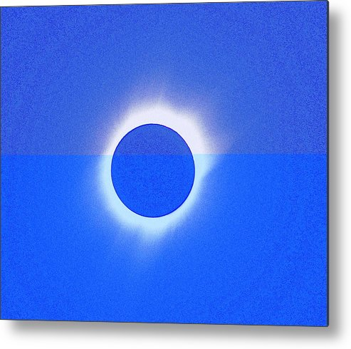 Sun Metal Print featuring the painting Solar Eclipse Of 2017 Poster 4 by Celestial Images