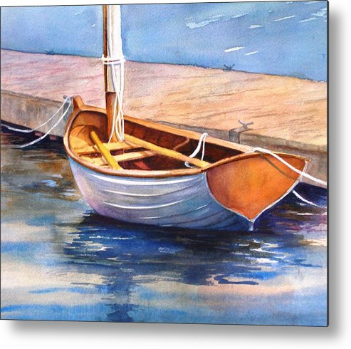 Sailboat Metal Print featuring the painting Solitude by Dorothy Nalls