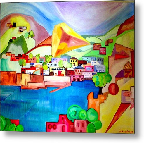 Abstract Metal Print featuring the painting Sorrento by Patricia Arroyo